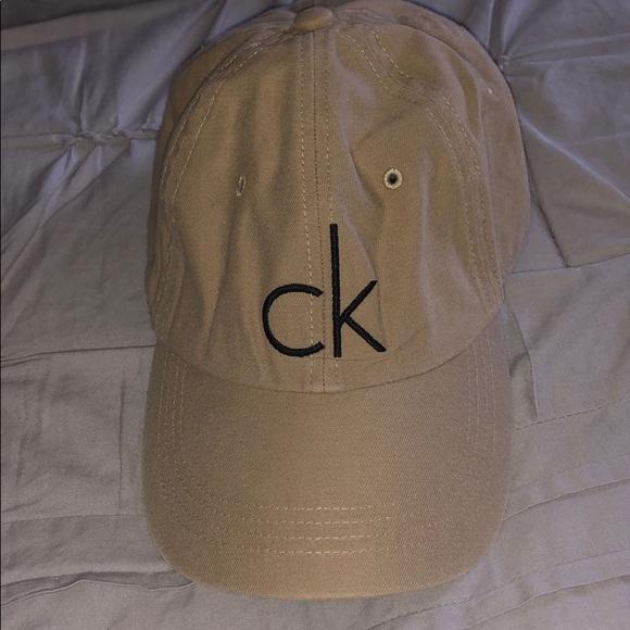 Calvin Klein Tan Beige baseball cap 3b5307c03fe